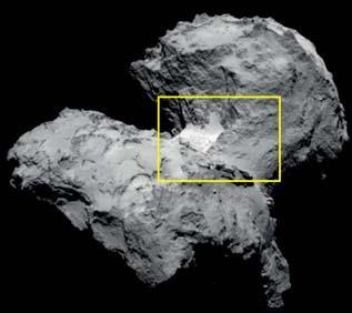 Hapi region on Comet 67P