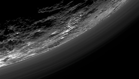 Haze layers in Pluto's atmosphere