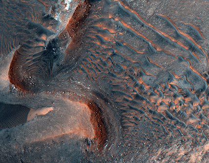 Boulders in Noctis Labyrinthus