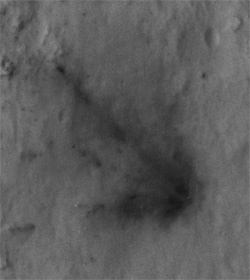 Crash site in Gale crater