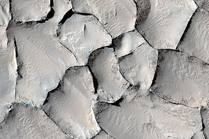 Polygons in Martian ice