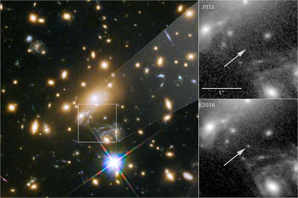 Hubble images most distant star
