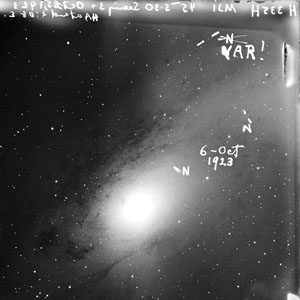 Hubble's 1923 image of M31