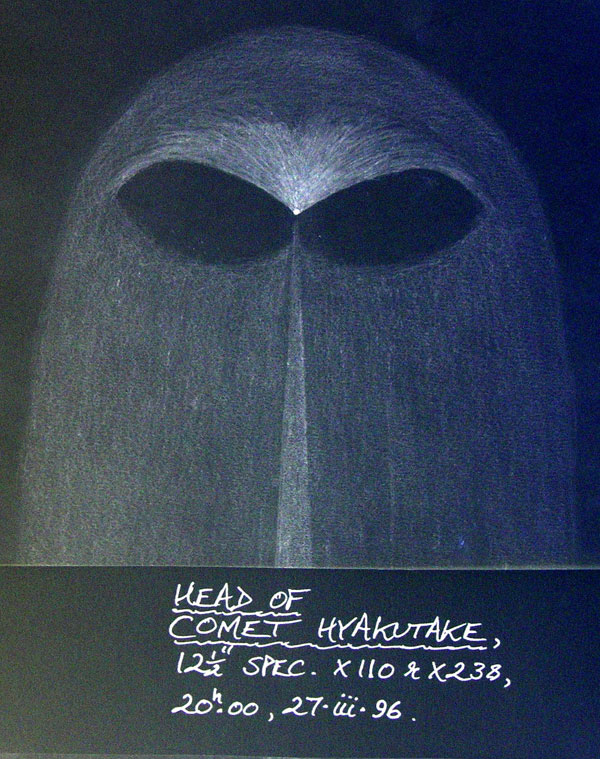 Comet Hyakutake sketch