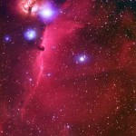 Horsehead Nebula silhouetted by IC 434