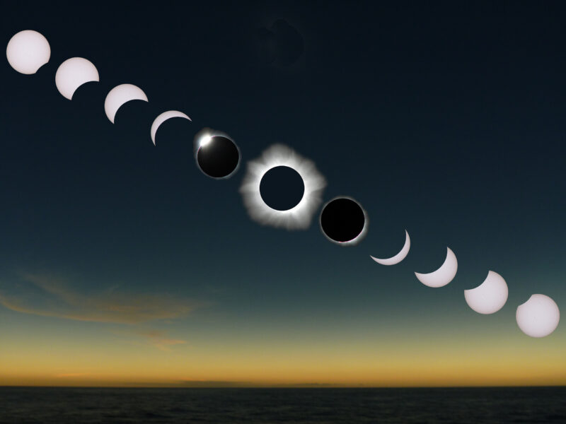 a diagram of the stages of a solar eclipse