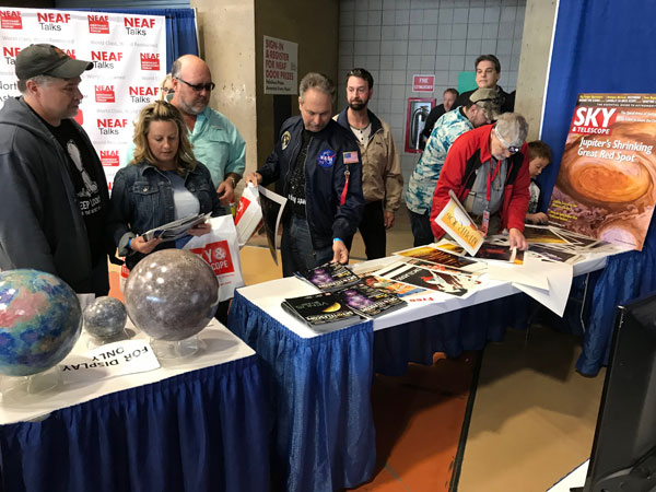 Readers visit Sky & Telescope's booth at NEAF