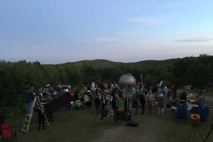Stellafane observing field