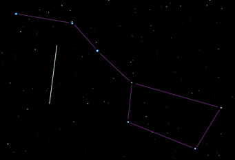 ISS near the Big Dipper