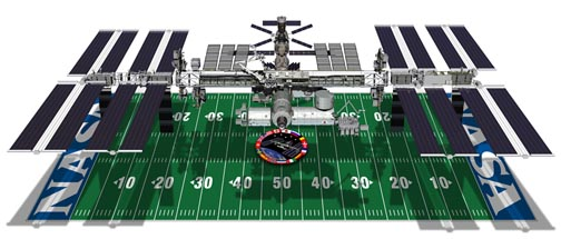 Play ball! ISS takes control of the field