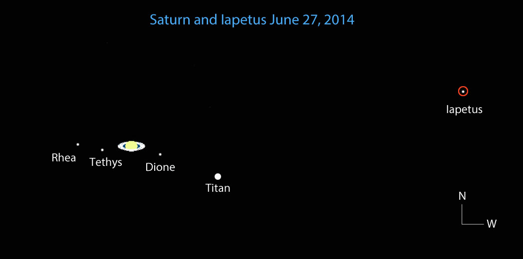 Iapetus Comes Over To The Bright Side Sky Amp Telescope