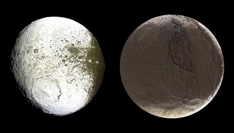 Iapetus as seen by Cassini