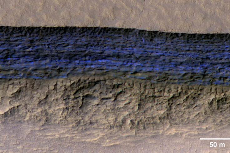 Ice cliff on Mars