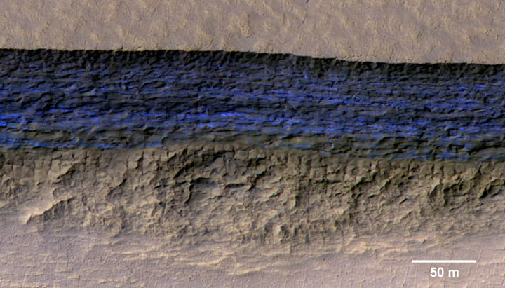 Ice cliff on Mars