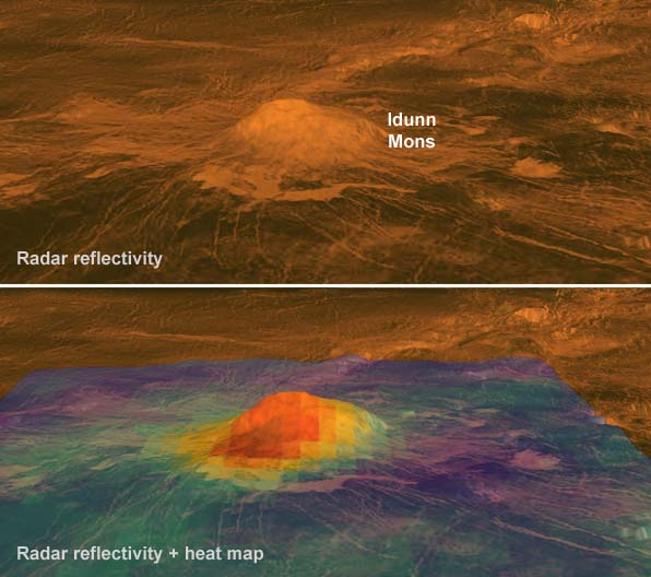 Idunn Mons: active volcano on Venus?