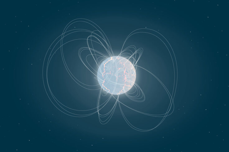 Artist's illustration of a magnetar