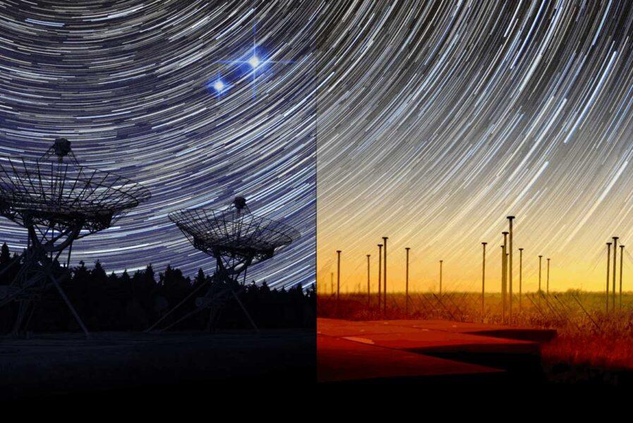 Radio observatories (artist's concept)