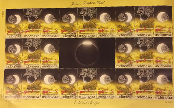 Indonesia Eclipse Stamps