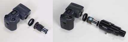 Nikon Coolpix with adapters