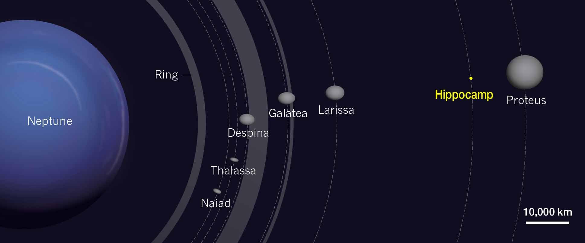 Inner moons of Neptune