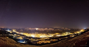 Night Sky above Innsbruck