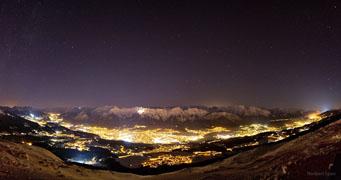 Night Sky above Innsbruck