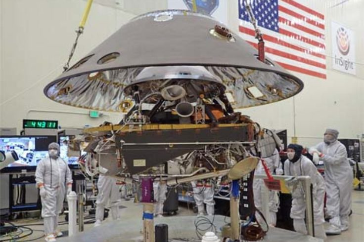 Insight stowed for launch