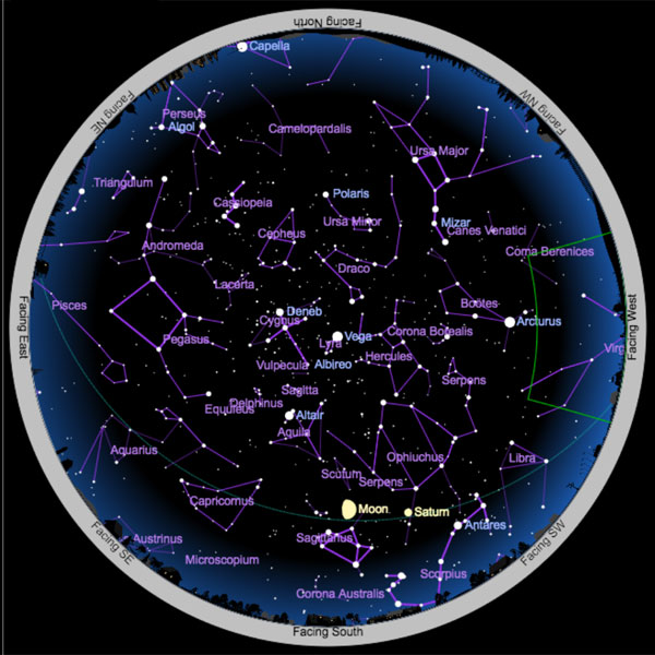 Interactive Sky Chart Beta Sky Telescope - Night sky map northern hemisphere