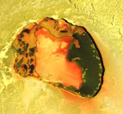 Volcanic crater on Io