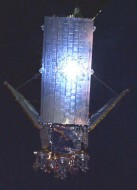 Reflective panel on an Iridium satellite