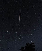 Meteor-like flare of an Iridium satellite