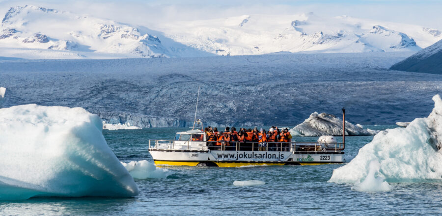 Jökulsárlón glacial lagoon in Iceland