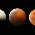 Sequence of a total lunar eclipse