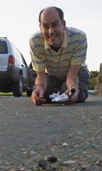 Sutter's Mill meteorite in parking lot