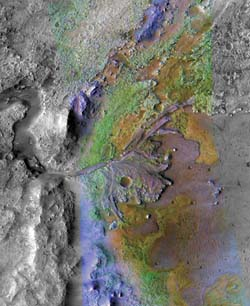 Clay deposits on Mars