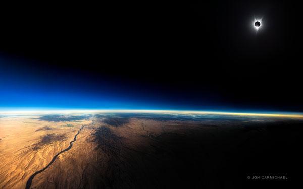 Jon Carmichael's composite of August 2017's total solar eclipse