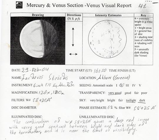 Careful notes on Venus