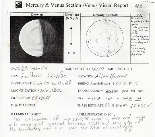 Careful notes on Venus