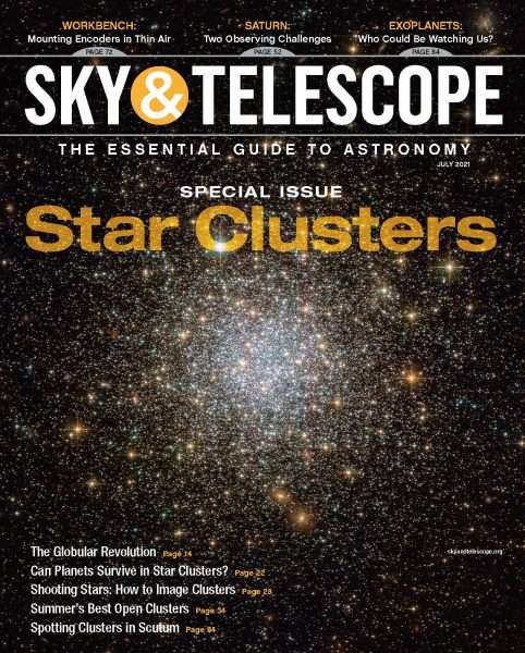 The cover of the July 2021 issue