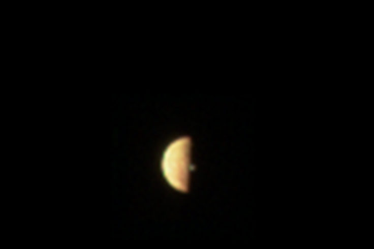 Volcanic plume on Io