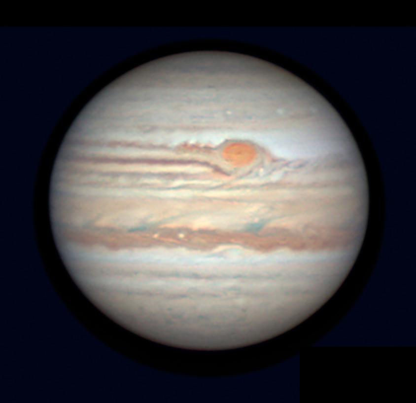 Jupiter and Red Spot, June 4, 2019