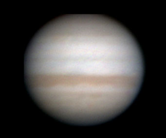 Jupiter low in bright dawn, April 10, 2010