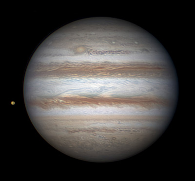 Jupiter and Io on Feb. 1, 2014