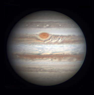 Jupiter on Dec. 9, 2015
