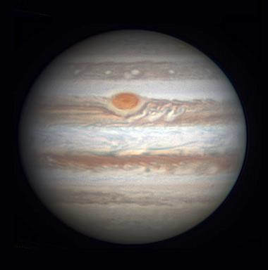 Jupiter on Dec. 9, 2015