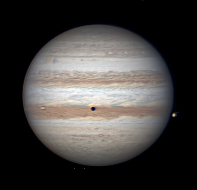 Jupiter with Io and shadow, April 19, 2016