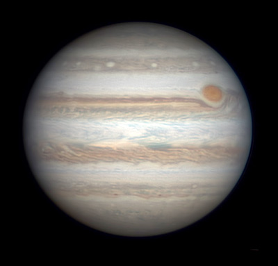 Jupiter with Great Red Spot, Feb. 12, 2016