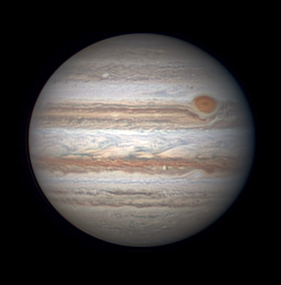 Jupiter with Red Spot on June 15, 2016