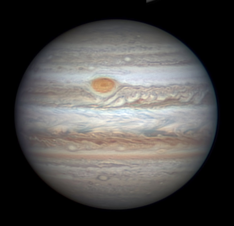 Jupiter with Red Spot on March 24, 2017