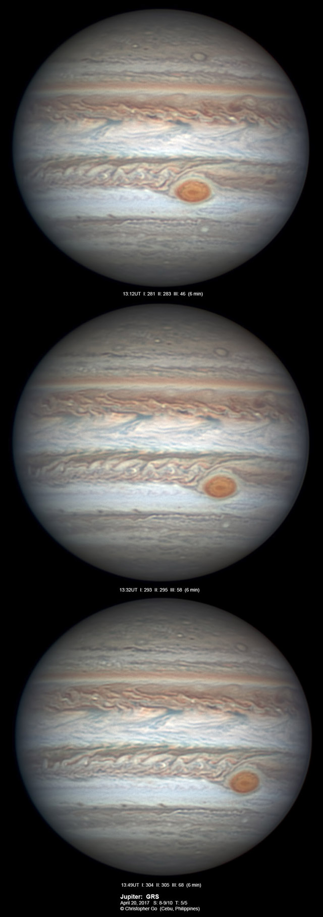 Jupiter on April 20, 2017